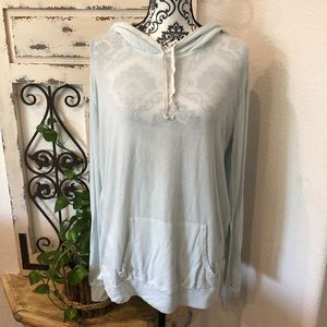 Brandy Melville lt turquoise hooded sweater